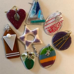 ALL OCCASION ORNAMENTS Bullseye Glass full fused ornaments, $25 and up