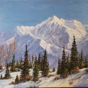 "Lone Peak of the Wasatch, 24""x30"" oil painting, $1100"