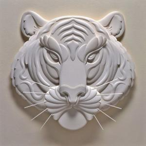 """FEARLESS 14.5""""x14.5"""" paper sculpture, professionally framed, $295"""
