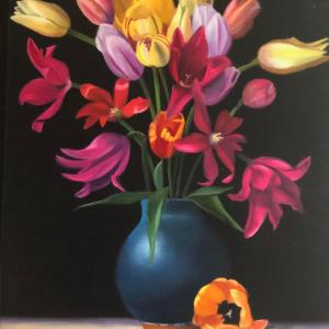 BLUE VASE oil painting, $350