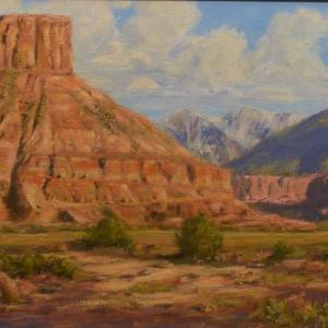 "Castle Country Country, 12""x24"" oil painting, $1250"