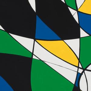 composition with green yellow and blue