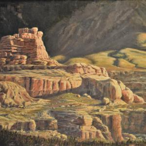 Virgin River Canyon, oil painting, $2400