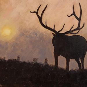 "Monarch of the West, 8""x10"" oil painting, $195"