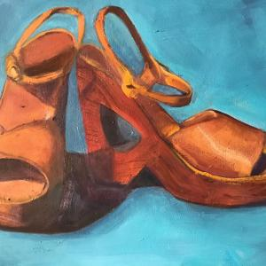 """MY 70's BEST 11""""X14"""" oil painting, $275"""