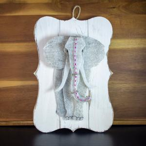 INDIA ELEPHANT fused glass and wired wrap, $85