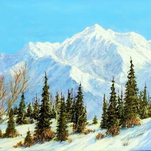 LONE PEAK OF THE WASATCH by Jim Woodward