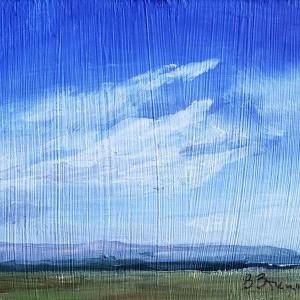 """ROLLING ACROSS THE VALLEY 3.5""""x5"""" Oil, $35"""