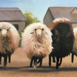 SHEEP oil painting, $310
