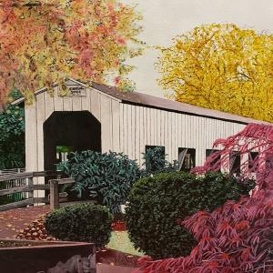 "Covered Bridge 16""x20"" available for $1000"