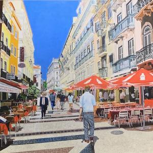"Another Day in Lisbon 16""x20"" available for $1000"