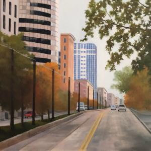 SALT LAKE STREET oil painting, $500