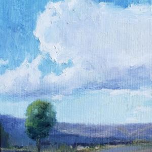 """VANTAGE FROM NOWHERE 8""""x10"""" Oil, $350"""